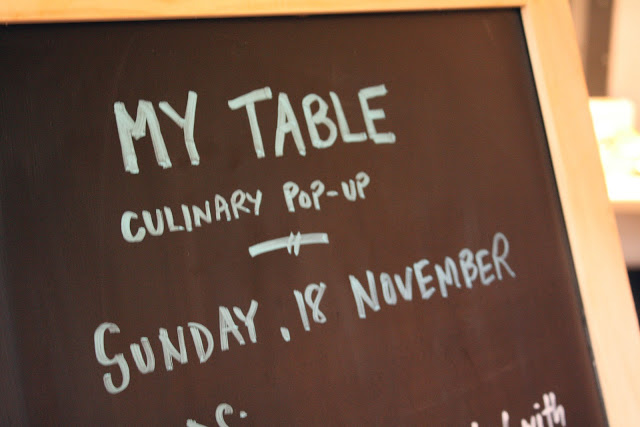 my table, claire, pop up dinners, Neighbourfood Market,
